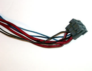 Figure 2, End of glow plug wiring where relay mounts
